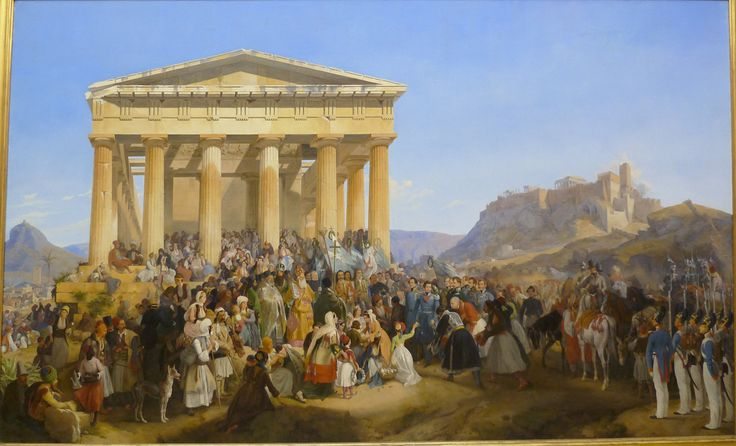https://flic.kr/p/9zizj9 | Peter von Hess - The entry of king Othon of Greece in Athens (1839) | Peter von Hess is known for his genre and history paintings. At the age of 15, he and his younger brother Heinrich left Dusseldorf with their family and came to Munich. There he studied at the Academy from 1809 to 1814, soon however distancing himself from supporters of the classical. As a young painter he captured the campaign battles against Napoleon. In 1816/17 he undertook a study trip to…