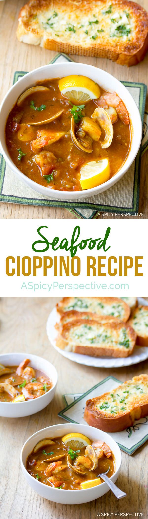 Alluring Seafood Cioppino Recipe | ASpicyPerspective.com