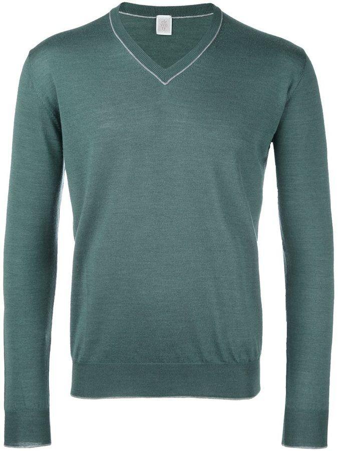 Eleventy v-neck trim jumper