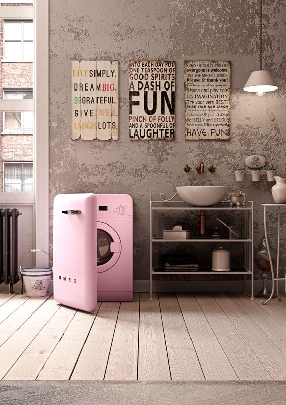 17 best images about more than you thought on pinterest - Pink smeg washing machine ...