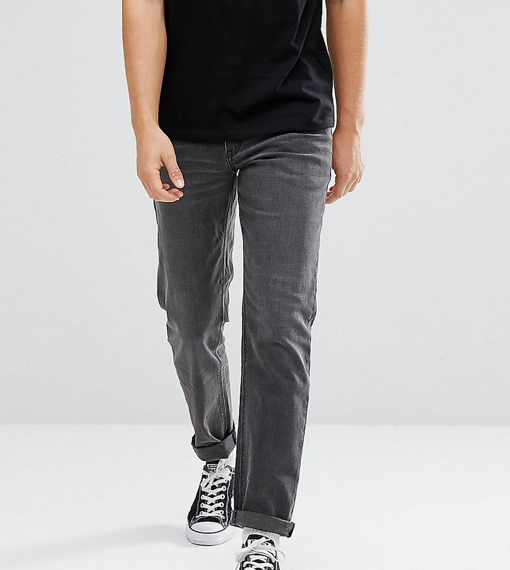 ASOS TALL Slim Jeans In Washed Black - Black