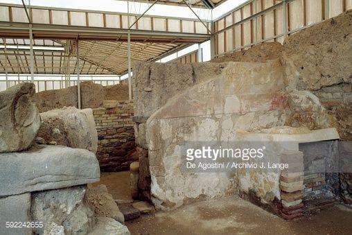 Stock Photo : Ruins of houses A and B, ancient city of Eraclea Minoa, Cattolica Eraclea, Sicily, Italy, Greek civilization, Magna Graecia, 4th-3rd century BC