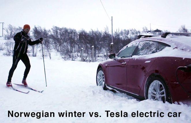 Can a Tesla electric car handle the harsh winter of Norway?