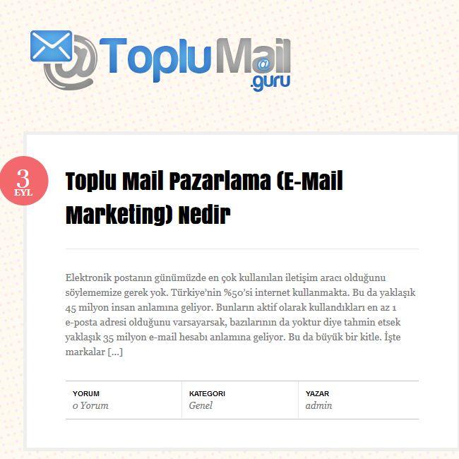 http://www.Toplumail.guru #toplumail, toplu mail, Toplu Mail Pazarlama (E-Mail Marketing) Nedir ?  Elektronik postanın günümüzde en çok kullanılan iletişim aracı olduğunu söylememize gerek yok.