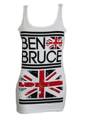 Ben Bruce Clothing Flag Ladies White Vest