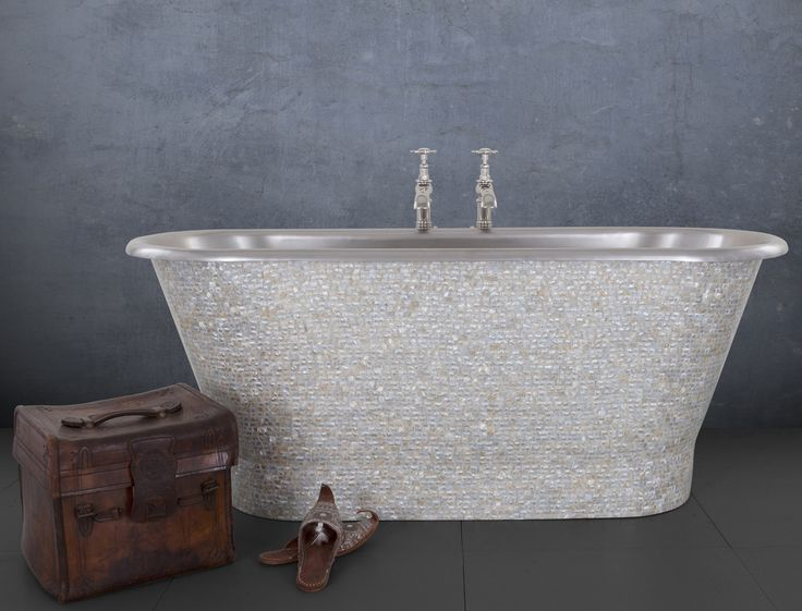 We've got the bling to make your bathroom zing! The Torino stainless steel bath with Mother of Pearl tiles is a absolute treat!