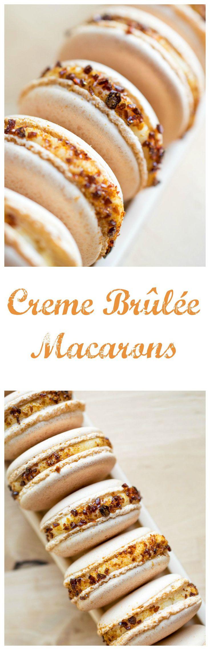 creme brulee macarons                                                                                                                                                     More