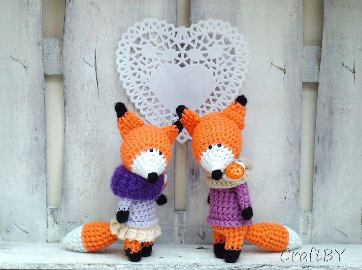 Amigurumi fox. (Inspiration).
