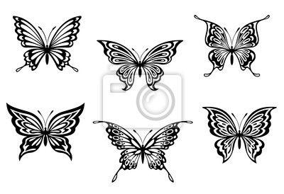 Vinilos elemento, curva, fantasía - tatuajes de mariposas en la oferta de PIXERS. El producto fabricado a partir de las fotos artísticas, de los mejores materiales de impresión.