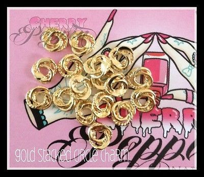 Gold Rope Ring Nail Charms