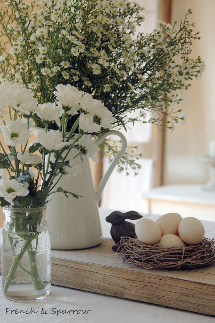 Easter table setting - simple & elegant