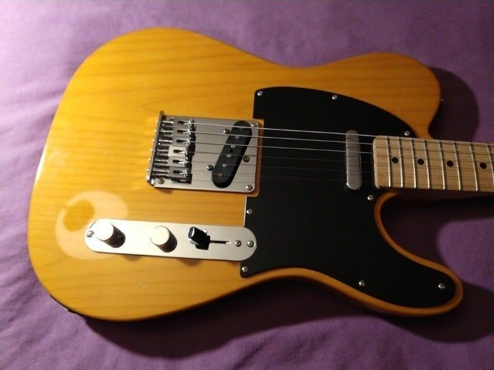This Is Telecaster Plays And Sounds Excellent It S Set Up With Low Action And Has A Very Powerful Set Of Pickups The Pair Of Si Guitar Telecaster Blonde Wood