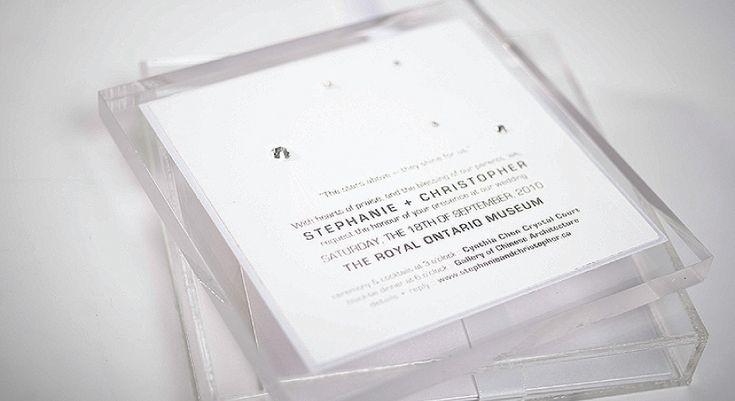 Lucite Invitations with finesse.  Palettera Custom Correspondences & Graphic Design, Luxury Couture Wedding Invitations, Letterpress Stationery | Toronto, Markham, Unionville, Hong Kong, International