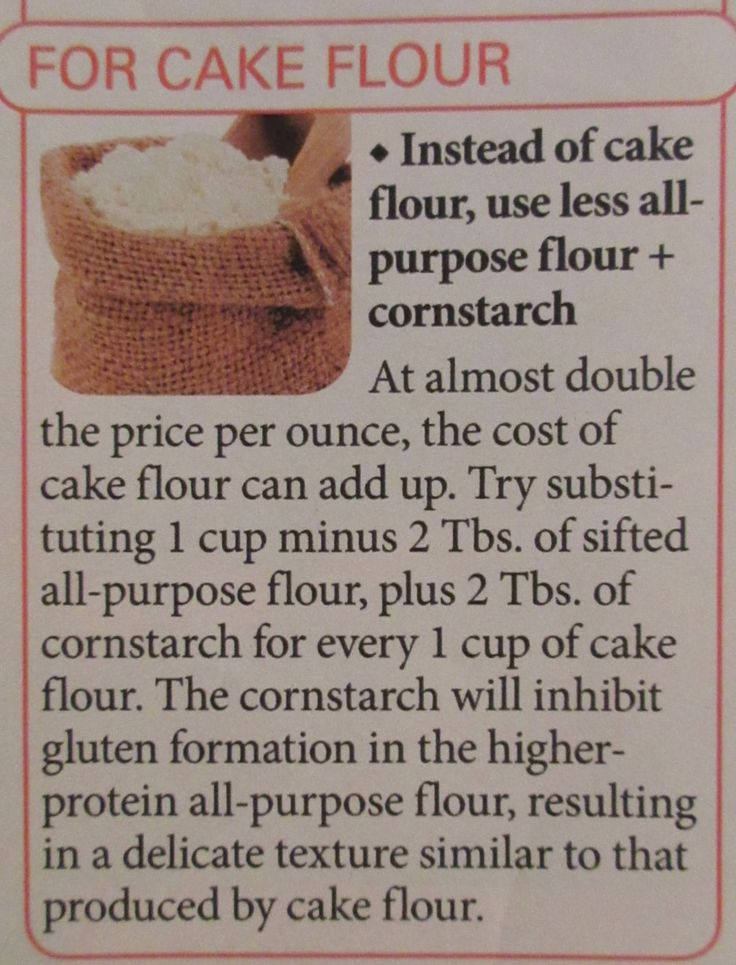 Instead of cake flour use all purpose flour and corn