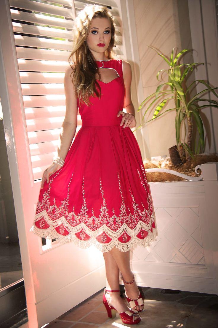 Scarlet Peekaboo Dress