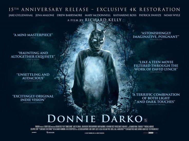 Watch the new trailer for the 15th Anniversary release of Donnie Darko here