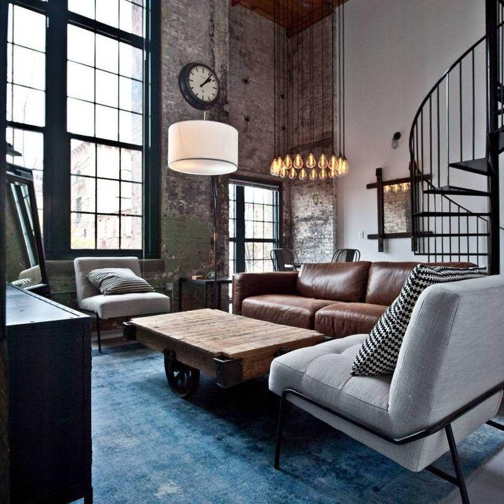 51 Industrial Living Room Decor Ideas Industrial Style Living Room Industrial Decor Living Room Rustic Industrial Living Room