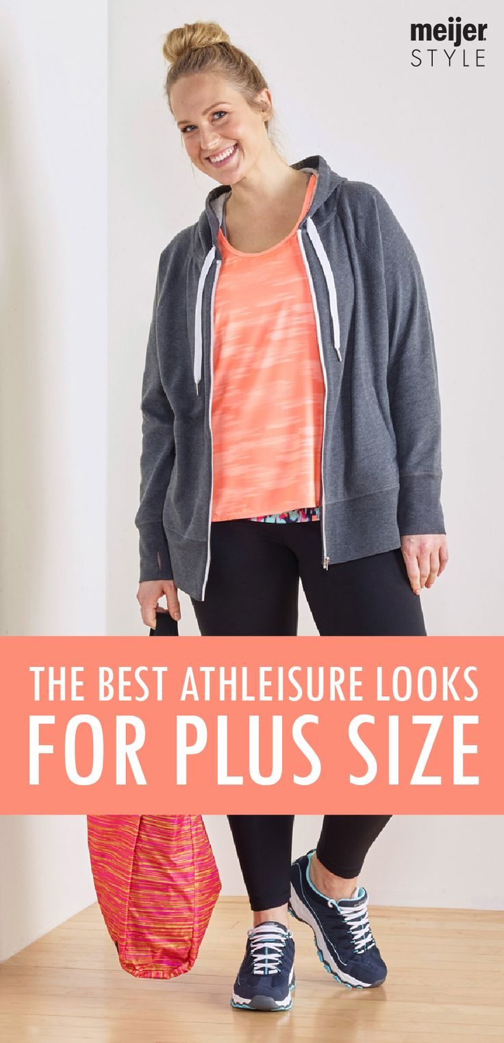 Cute running tanks and comfortable yoga pants are a must at the gym. Explore our favorite plus-size gear that'll get you to and from the gym in style. #MeijerStyle
