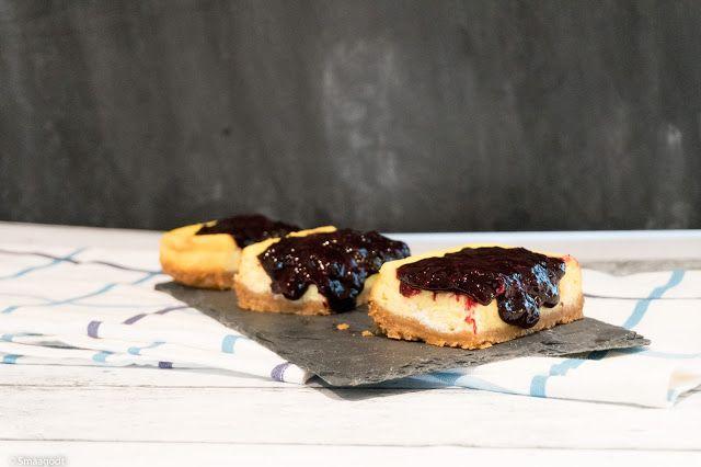 Ostekake med skogsbærkompott cheesecake