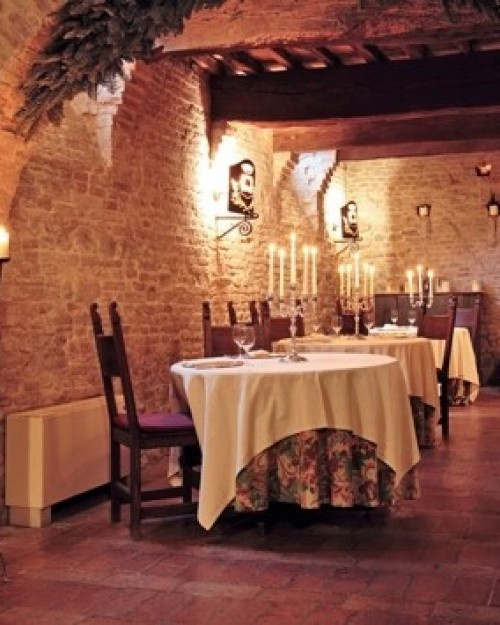 A romantic dinner at Ristoro di Palazzo Viviani would be perfection. It's in the castle's old wine cellars. Palazzo Viviani - Montegridolfo, Italy #Jetsetter #JSHoneymoon