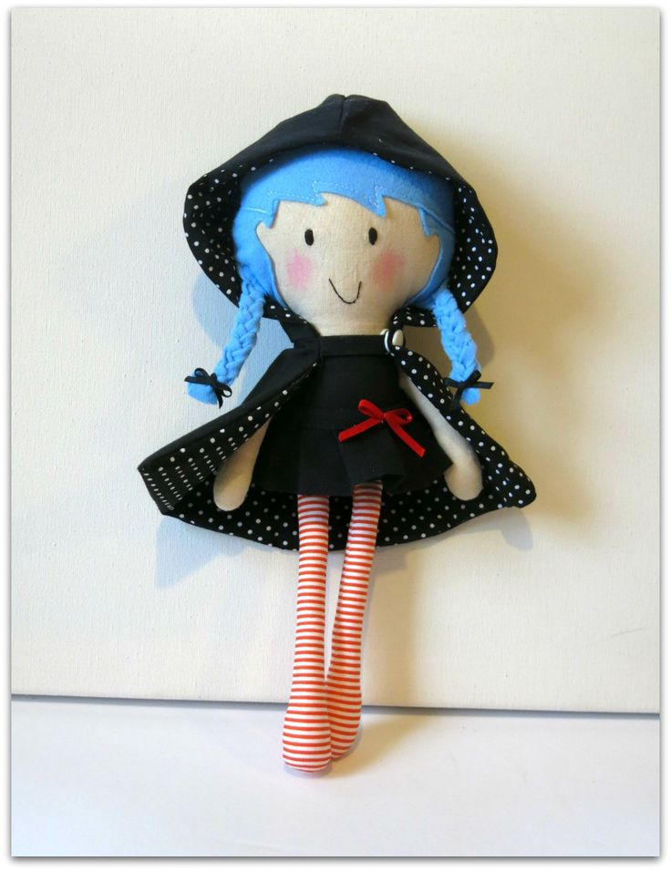 My Noopy Doll Little Witch by the sewing me -- bambola di stoffa piccola strega
