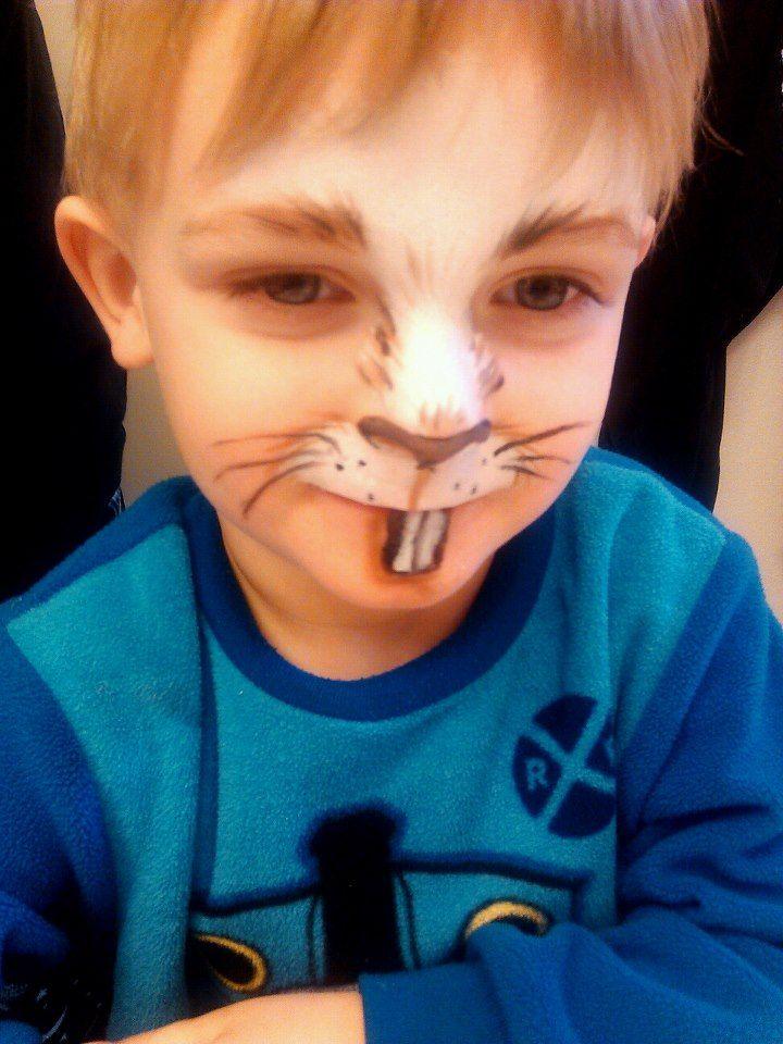 Simple Easter bunny makeup on my son. :) MUA: Becki Morgan