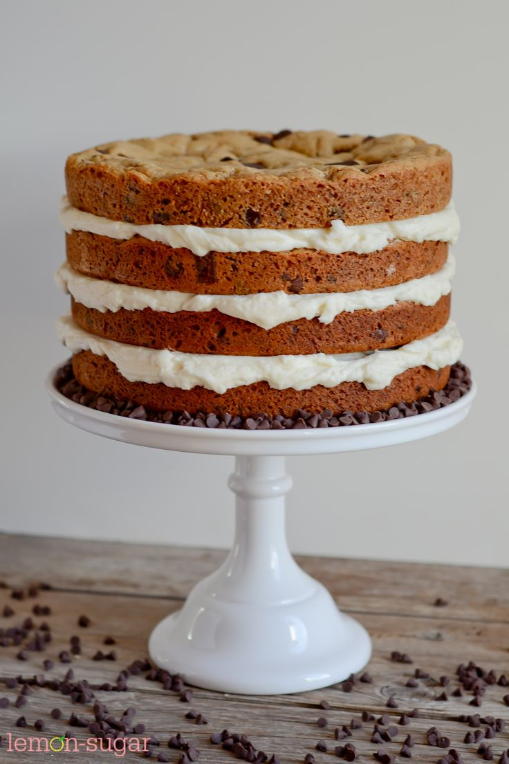Chocolate Chip Cookie Layer Cake Cake Chocolate Chip