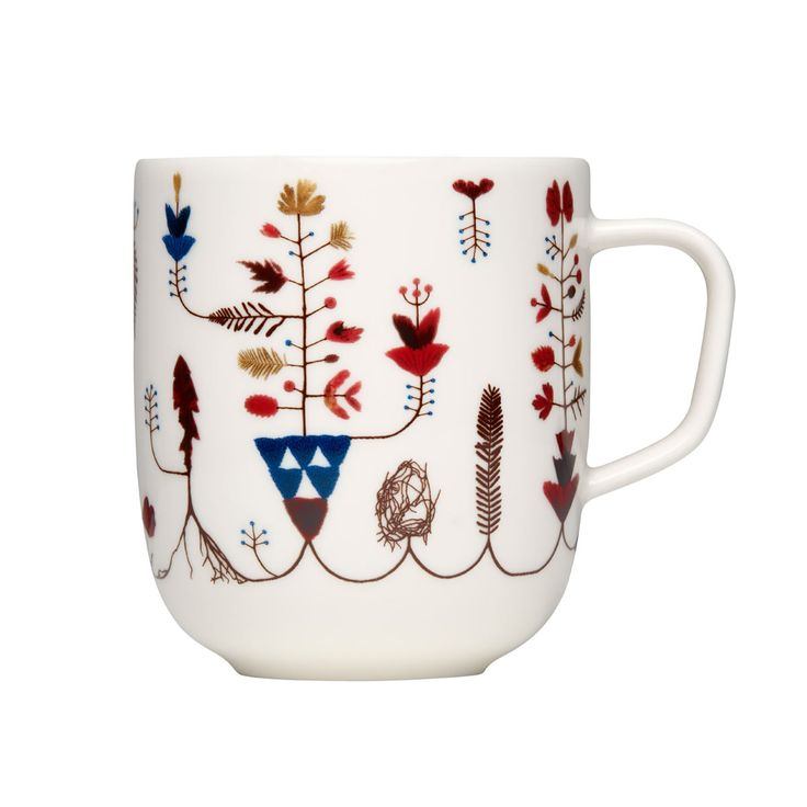 "This mug is made from vitro porcelain, so it is conveniently microwave, oven, freezer and dishwasher safe. It fits right in with the ""relaxed living"" Sarjaton encourages, where great company and comforts are more meaningful than forced, formal settings."