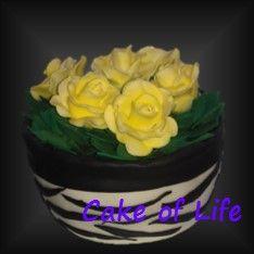 #bloempot #rozen #taart