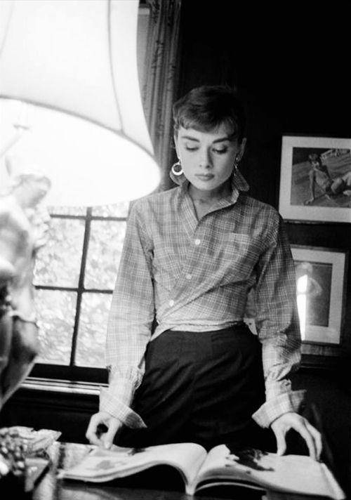 Audrey Hepburn photographed by Dennis Stock on the set of Sabrina, Long Island, New York, 1954.
