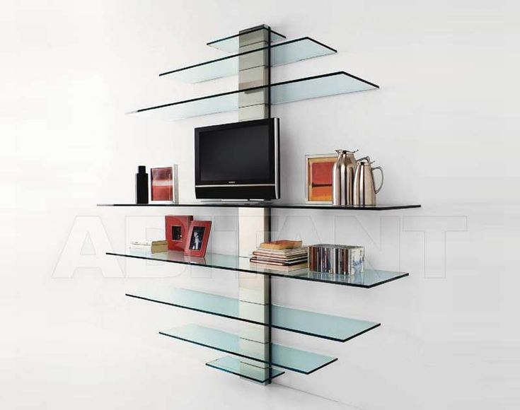 Shelf of glass in the art Nouveau style