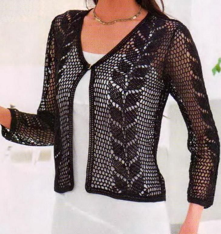 Crochet Sweater: Crochet - Crochet Lace Sweater For Ladies http://crochet-sweaters.blogspot.be/2012/10/crochet-crochet-lace-sweater-for-ladies.html