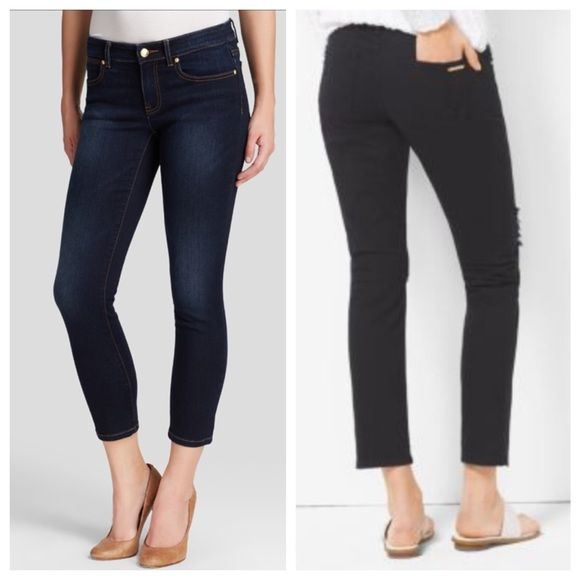 MICHAEL KORS Cropped Skinny Jeans Medium-dark wash. Women's, size 4. NEW condition with partial tags (paper tag removed, but sticker tag fully in tact); fairly discounted for this. Stretchy. Imported, Guatemala. Skinny. Cropped. Michael Kors Jeans Ankle & Cropped