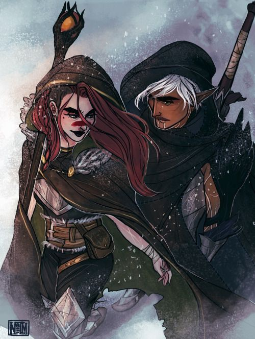 Art Blog - Fenris went with Hawke to Skyhold. There's no way...