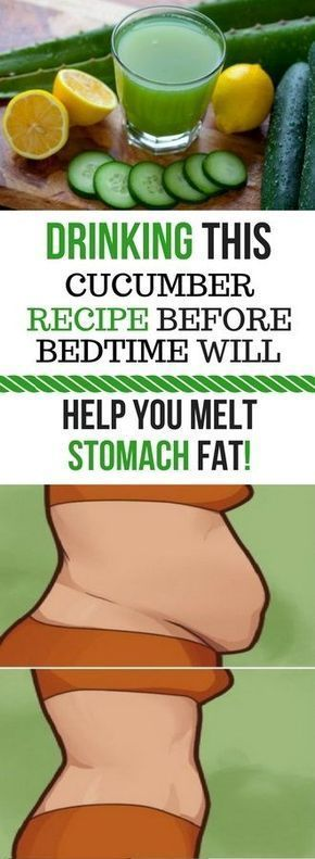 DRINKING THIS CUCUMBER RECIPE BEFORE BEDTIME WILL HELP YOU MELT STOMACH FAT IN NO TIME