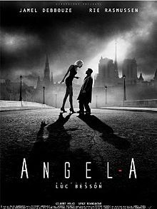 Angel-A (2005), directed by Luc Besson, is a French fantasy and romantic drama featuring Jamel Debbouze and Rie Rasmussen. The film was premiered in the United States at the Sundance Film Festival of 2007.