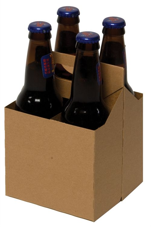 These kraft 4 pack cardboard carriers will fit any 12 oz for 6 pack beer carrier template