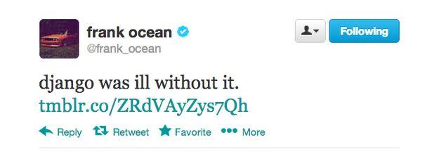 """Frank Ocean Releases Unused """"Django Unchained"""" Song"""