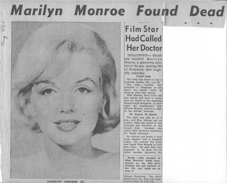 marilyn monroe death thesis statement Thesis statement- marilyn monroe was a turning point in history for her mysterious death and the theories peter lawford is called to say that marilyn is dead.