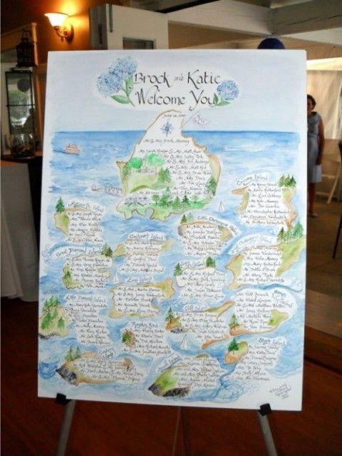 水彩画風♡夏の結婚式に♡ハワイアンな席次表のまとめ一覧♡