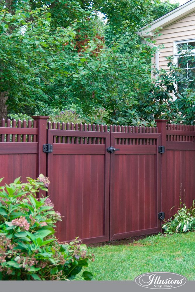 Check out these gorgeous Mahogany PVC Vinyl Illusions Fence Matching