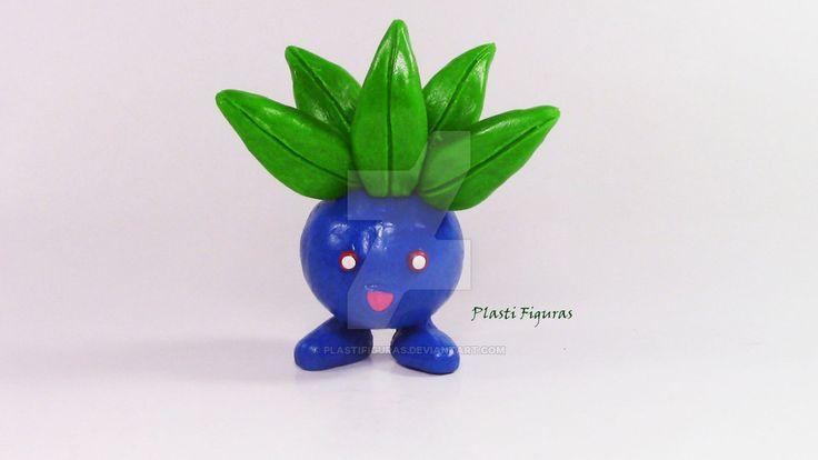 Pokemon Oddish de Plastilina (Plasticine) by PlastiFiguras.deviantart.com on…