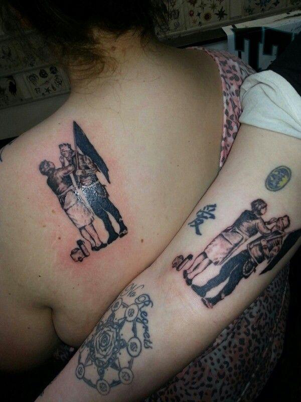 MGK Black Flag couple's tattoo Couples Tattoo, Well Tattoo, Tattoo ...