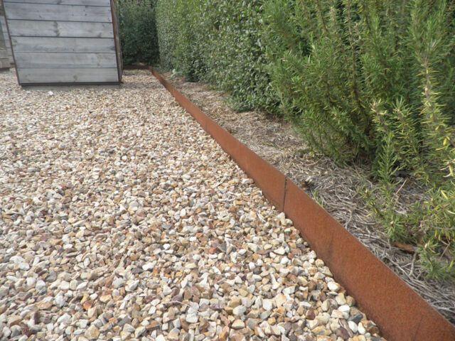 200mm High Metal Garden Edging Corten Steel Pre Rusted Price Per Metre Ebay Metal Garden Edging Garden Edging Steel Garden Edging