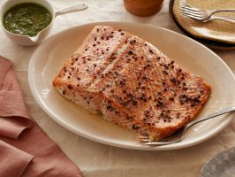 Slow Roasted Salmon with Sage and Parsley Pistou : Dress salmon in a ...