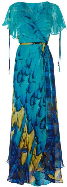 ALMOST FAMOUS OF ENGLAND Painted Feather Maxi @Lyst dressmesweetiedarling