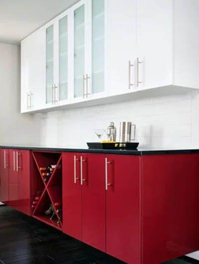 26 Red Kitchen Cabinet Ideas in 2020 | Red kitchen ...