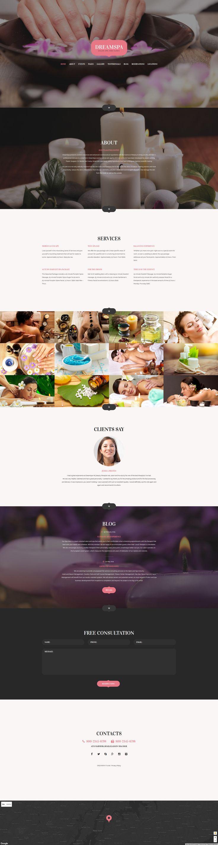 Beauty Parlour Joomla Template 102 best Website