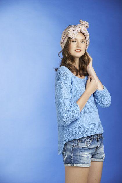 Stickad damtröja Novita Eco Cotton | Novita knits