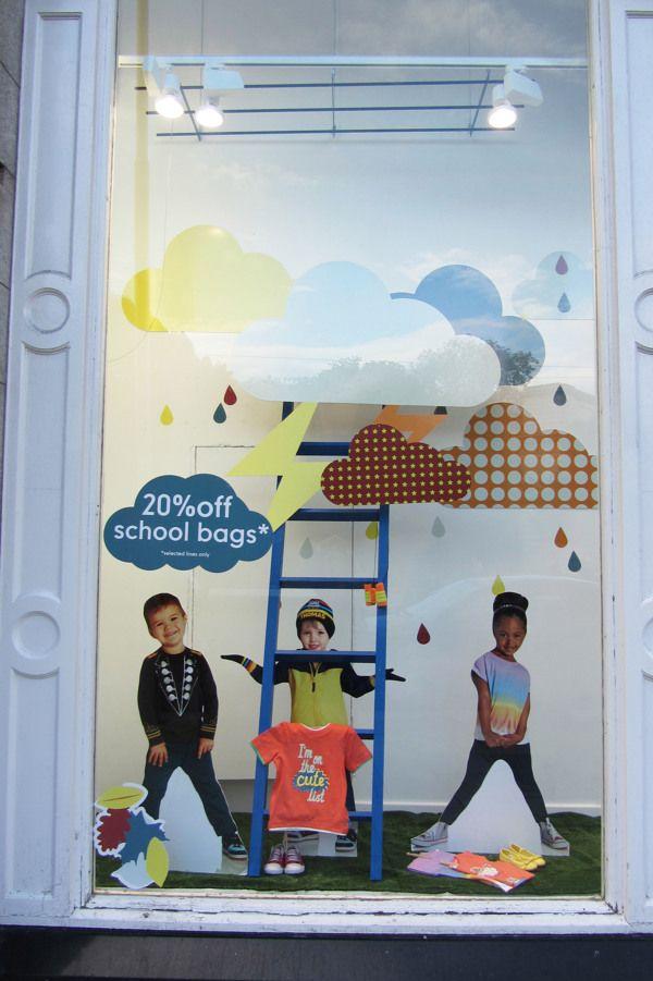 Mothercare Dublin Autumn Window Displays on Behance